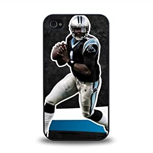 iPhone 4 4S case protective skin cover with NFL Carolina Panthers quarterback Cam Newton #3