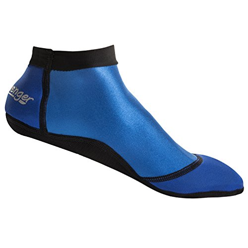 Seavenger SeaSnug Low Cut Socks for Beach Volleyball, Protect Against Sand & Sunburn for Water Sports & Beach Activities (Blue, Large)