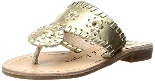 Jack Rogers Girls' Miss Hamptons II Sandal Gold 3 M US Little Kid