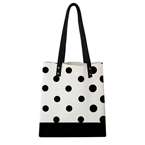 Laptop Waterproof Casual Polka Hugs Print Shoulder Tote Dot Bag Leather Travel Idea Pu BpZZq487