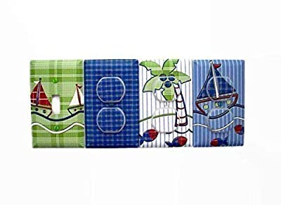 Nautical Sailboats Light Switch Cover and Outlet Covers (Set 4)