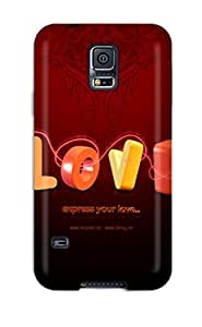 New Love Desktop Background Tpu Skin Case Compatible With Galaxy S5