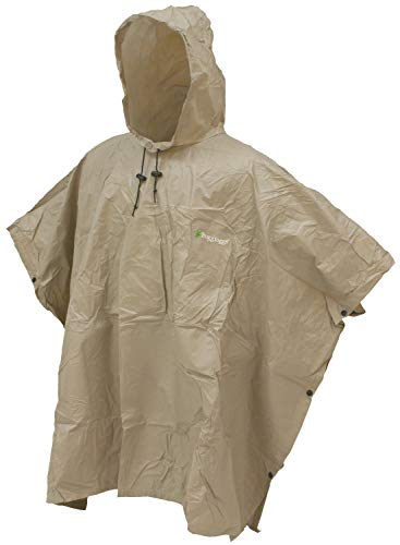 Frogg Toggs Ultra-Lite2 Waterproof Breathable Poncho, Khaki, One Size