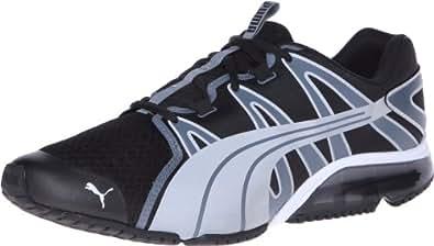 PUMA Men's Powertech Voltaic Running Shoe,Black/Turbulence/PUMA Silver,7.5 M US