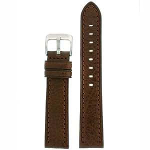 Watch Band Dark Brown Genuine Leather 22 millimeter Tech Swiss