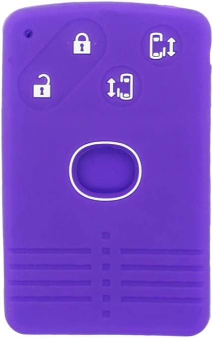 SEGADEN Silicone Cover Protector Case Skin Jacket fit for MAZDA 4 Button Smart Card Remote Key Fob CV4534 Gray