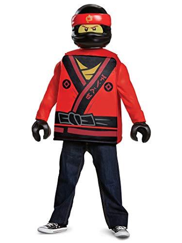Ninjago Nya Halloween Costumes (Disguise Kai Lego Ninjago Movie Classic Costume, Red, Medium)