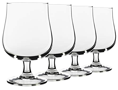 (17oz USA Made Belgian Craft Beer Glasses. Tulip Style Stemmed Glassware, Set of 4 by Serami)