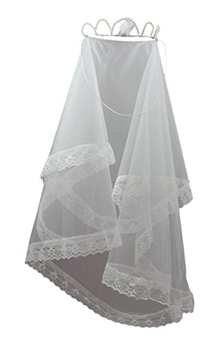 Girl's First Holy Communion Crown of Pearl Veil Catholic Religious Sacraments