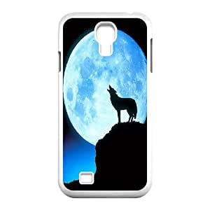 [Tony-Wilson Phone Case] For SamSung Galaxy S4 Case -IKAI0446345-Wolf,Wolves and Moon Pattern