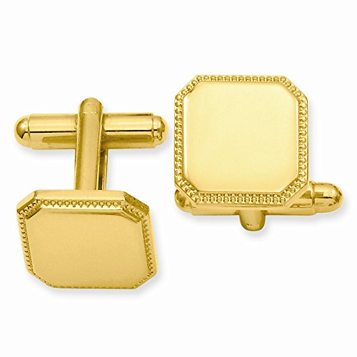 ICE CARATS Gold Plated Kelly Waters Square Beaded Cuff Links Mens Cufflinks Man Link Water Fashion Jewelry Gift for Dad Mens for Him