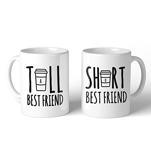 365 Printing Tall And Short Best Friend BFF Mugs Christmas Birthday Gifts (Best Friend Items)