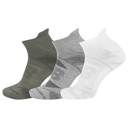 New Balance Performance Cushioned Tab Socks, AS1 Assorted, Medium: Shoe Size Men's 7.5-9 / Women's 6-10, 3 Pair