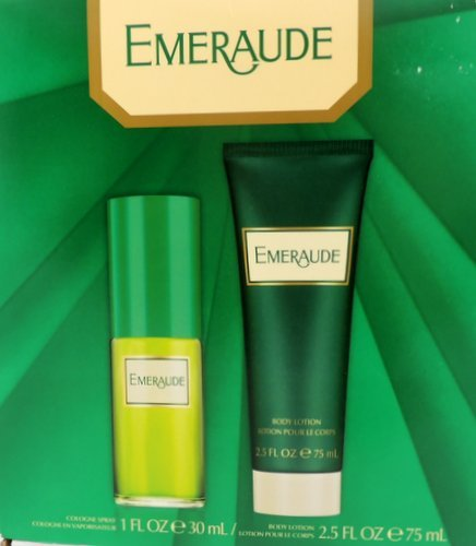 Emeraude 2 Piece Gift Set ~ 1 oz. Cologne Spray + 2.5 oz. Body Lotion