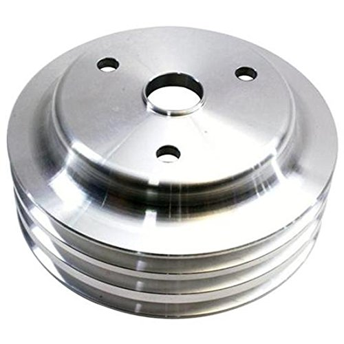 1969-1985 Small Block Fits Chevy Aluminum Triple Lower Pulley, Long Pump