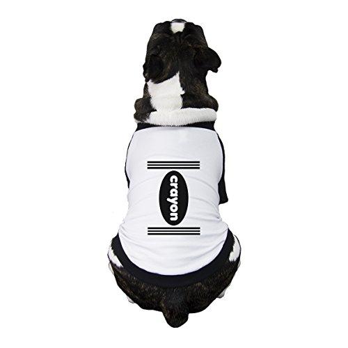 365 Printing Crayon Funny Halloween Costumes For Dogs Graphic Raglan Pet Shirt