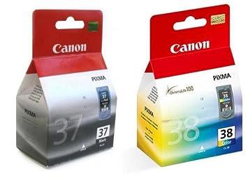 2 cartucho de tinta para impresora Canon Pixma MP470 - negro + Tri ...