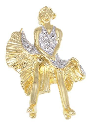 Alilang Shiny Gold Tone Marilyn Monroe Keepsake Souvenir