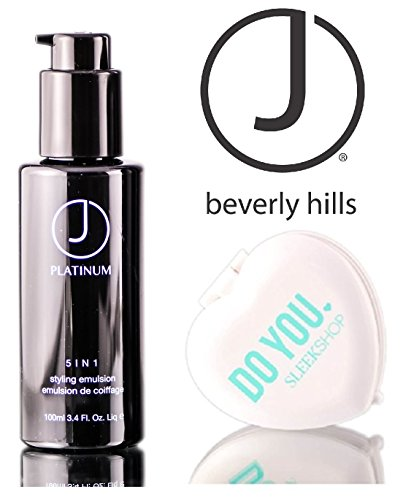 J Beverly Hills Platinum Renewing Hair Regime 5 in 1 Styling Emulsion (with Sleek Compact Mirror) (3.4 oz - travel size) ()