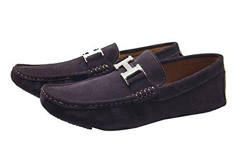 Santimon Heren Lederen Instapper Toevallige Gesp Loafer Rijden Heren Auto Schoenen Moc Schoenen Koffie