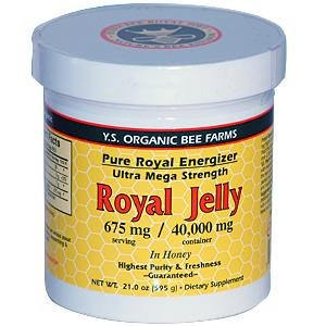 YS Royal Jelly/Honey Bee - Royal Jelly In Honey Ultra Strength, 21 oz gel - Raw Royal Jelly
