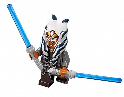 LEGO Star Wars Rebels Minifigure - Ahsoka Tano with Dual Lightsabers (Star Wars Ahsoka Lightsaber)