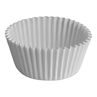 """Hoffmaster BL114-3SP Fluted Bake Cup, 3/4-Ounce Capacity, 3"""" Diameter x 7/8"""" Height, White (4 Packs of 500)"""