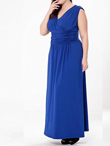 Damen Ärmellose Chiffon VAusschnitt Lange Kleider Abendkleid ...