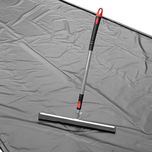 GarageMatExpress Black Heavy Duty 7'9'' x 16' Compact Size Floor Containment Mat for Snow, Oil, Mud, Ice by Garage Mat Express (Image #4)
