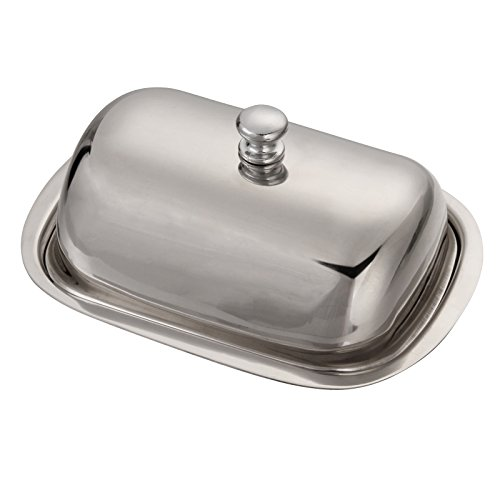 Huayao Stainless Steel Butter Dish Table Serving Tray Storage ()