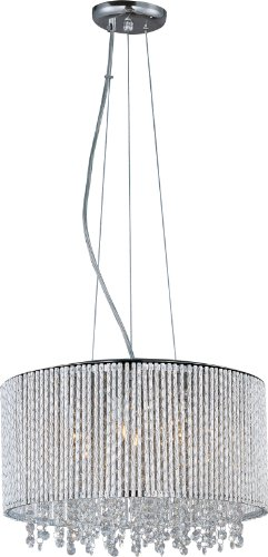 Modern Single Light Drum (ET2 Lighting E23135-10PC, Spiral Drum Pendant, 7 Light, 280 Total Watts Xenon,)