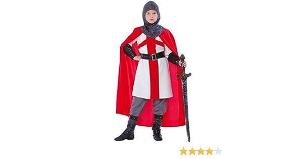 traje de cruzada, caballero Templare, Niño 5 - 6 años: Amazon.es ...