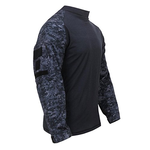 Rothco Military FR NYCO Combat Shirt, Midnight Digital Camo, X-Large ()