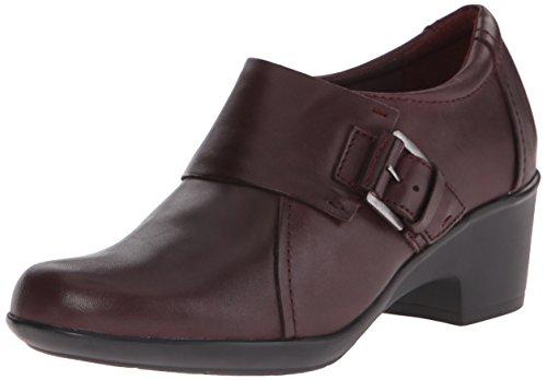 Clarks Genette Vista plana Burgundy Leather