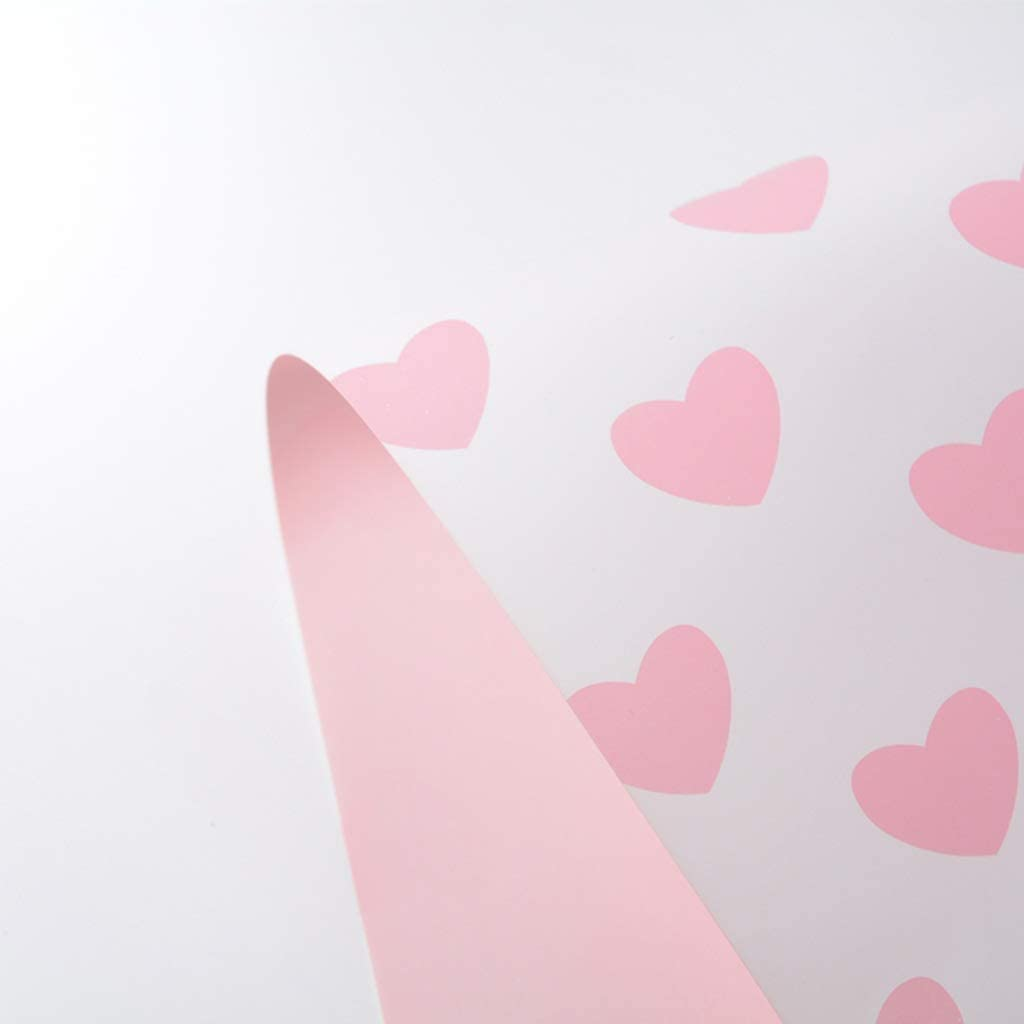 ZXL Papel de Envoltorio Impreso en Forma de corazón, Envoltorio de Regalo para el día de San Valentín Papel Envuelto Envoltorio de Libros para Estudiantes Papel Decorativo de Origami, Envoltorio