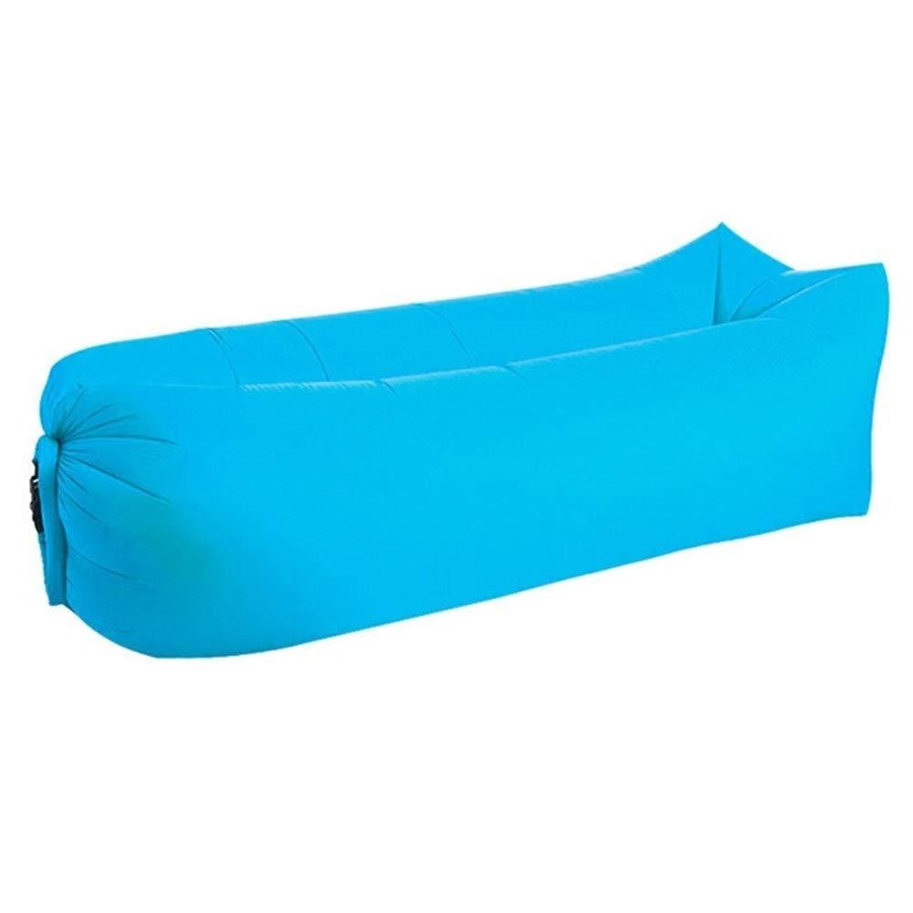 Peninsula Iron Box Camping mat Lazy Bag Lazy Outdoor Camping Lazy Couch Beach Picnic mat Inflatable Sofa Bed Bean Bag air Sofa Leisure Cushion sdaijeuh787 (Color : Sky Blue) by Peninsula Iron Box
