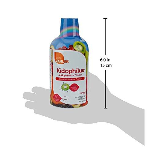 Zahler Kidophilus Liquid, Advanced Kids Probiotics, Acidophilus Supplement for Childern,Over One Billion Live Cultures and Intestinal Flora, Great Tasting Fruit Punch Flavor, Certified Kosher,16oz