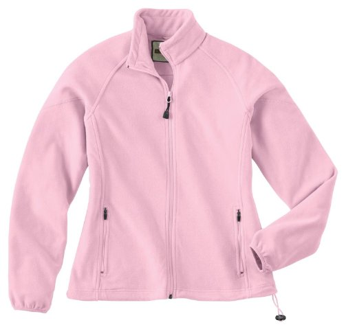 Ladies' Microfleece Unlined Jacket, Color: Powder Pink, Size: 2X-Large