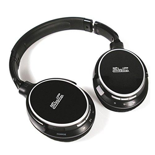 Klip Xtreme KHS-865 Monoaural Diadema Negro auricular con micrófono - Auriculares con micrófono (Monoaural, Diadema, Negro, Inalámbrico, 10 m, ...