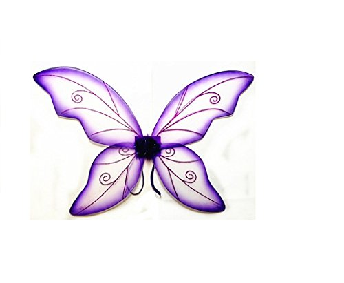 Costume Fairy Wings - Large (34in) Pixie Princess Dress up Wings By Cutie Collection (Adult, (Adult Wings)
