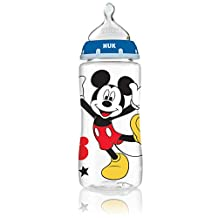 NUK 62049 Disney Baby Bottle with Perfect Fit Nipple, Mickey Mouse, 10 Oz, 3 Pack