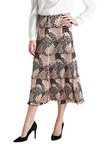 Charmance - Jupe plisse, lastique - femme Imprime beige/camel