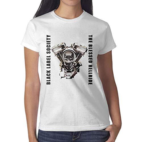 Black-Label-Society-Skull- Womens Cotton Blend Short Sleeve Tshirt