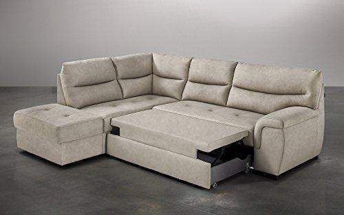 Dafnedesign. com - sintética Efecto Nobuck Light Grey sofá ...
