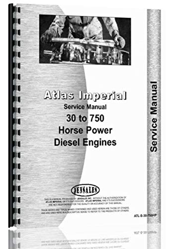 Atlas Imperial Stationery 30-750 HP Engine Service for sale  Delivered anywhere in USA
