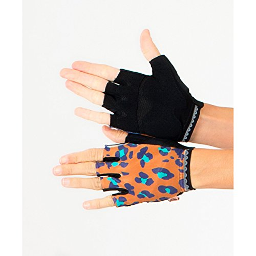 Shebeest 2018 Women's Big Cat Short Finger Cycling Glove - 3660 (Big Cat-Salted Caramel - LG)