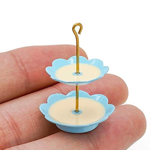 Odoria 1:12 Miniature 2-Tier Dessert/Cupcake Stand Dollhouse Kitchen Accessories