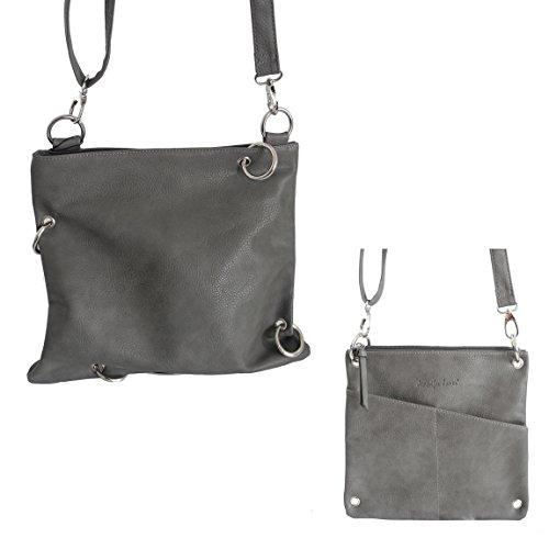 Jennifer Jones - präsentiert von ZMOKA® - Bolso cruzados para mujer gris gris