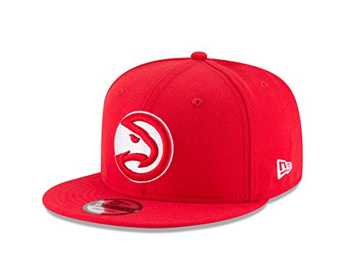 New Era NBA Atlanta Hawks Adult Men NBA 9Fifty Team Color Basic Snapback Cap,OSFA,Red