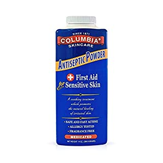Columbia Skincare Medicated Antiseptic Powder for Sensitive Skin (14 oz) Destroys Bacteria, Soothes Itching and Irritation, Reduces Inflammation